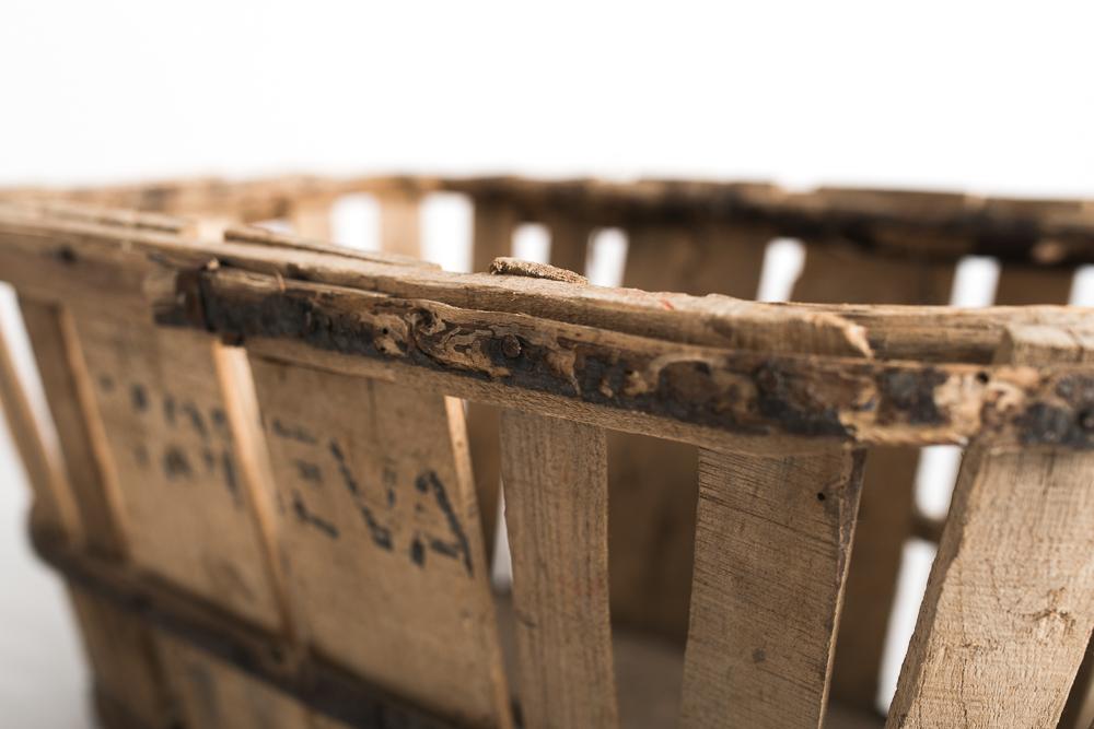 Cesta madera ovalada oscura