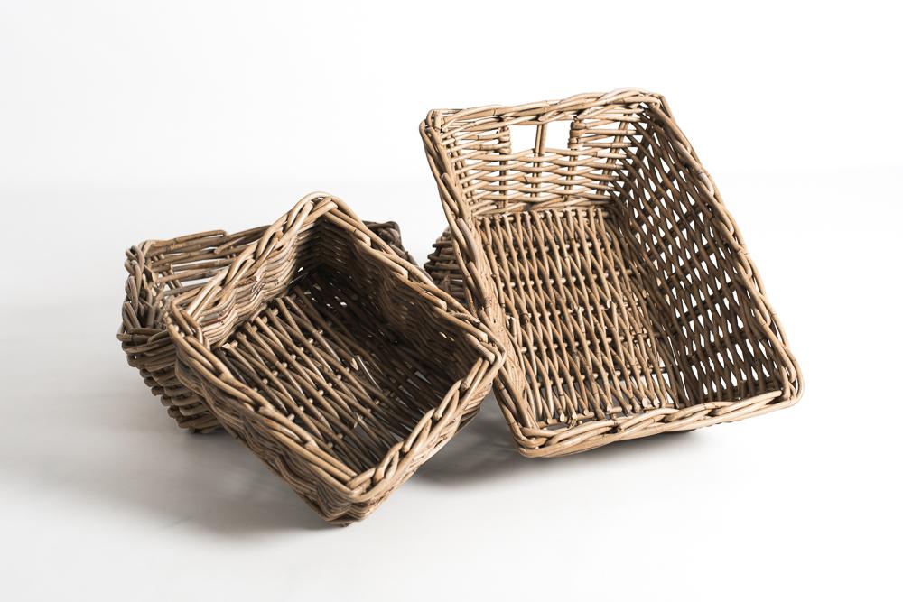 Conjunto cesta mimbre