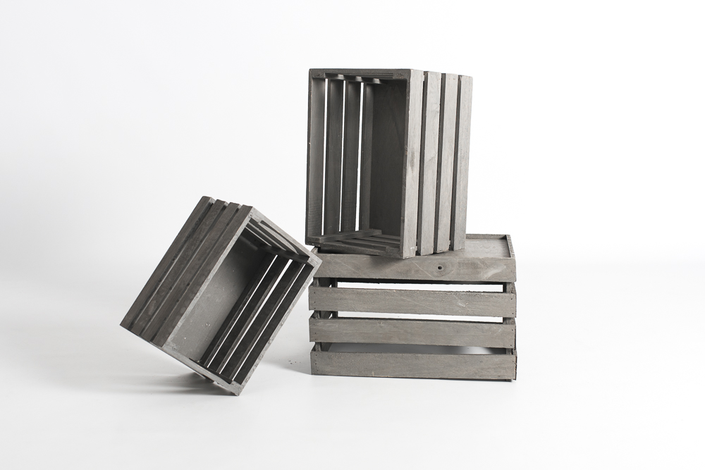 Cajas pequeñas grises